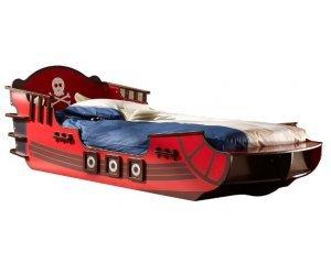 lit bateau pirate crazy shark pour enfant 90 x 190 cm. Black Bedroom Furniture Sets. Home Design Ideas