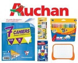 Auchan: 5% de remise dès 50€ d'achat sur les fournitures scolaires