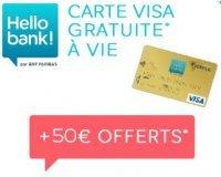 Hello bank!: 50€ offerts pour l'ouverture d'un compte bancaire
