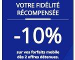 Bouygues Telecom: 10% de réduction sur tous vos forfaits mobiles dès 2 abonnements souscrits