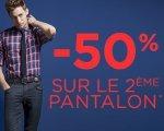 Jules: 50% de réduction sur le 2ème pantalon