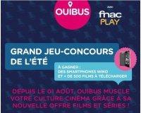 OUIBUS: 3 smartphones Wiko UFEEL et 500 films à télécharger sur FNACPLAY à gagner