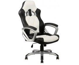 Cdiscount: Chaise de bureau blanche et noire racing à 75,99€