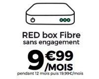 SFR: Abonnement Internet RED box Fibre à 9,99€ par mois pendant 1 an sans engagement