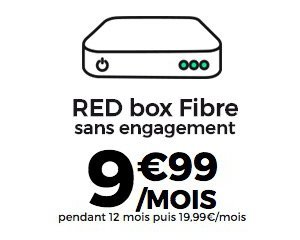 SFR: Abonnement Internet RED box Fibre à 9,99€ par mois pendant 1 an sans engagement