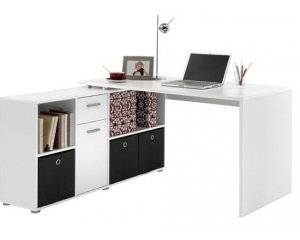 bureau d 39 angle r versible flex avec rangements 129 au lieu de 235 auchan. Black Bedroom Furniture Sets. Home Design Ideas