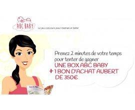 ABC BABY: 1 chèque cadeau Aubert de 350 euros et 1 Box ABC BABY à gagner