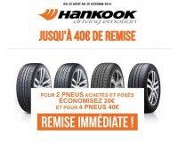 Speedy: 20€ de réduction pour l'achat et la pose de 2 pneus Hankook (- 40€ pour 4 pneus)