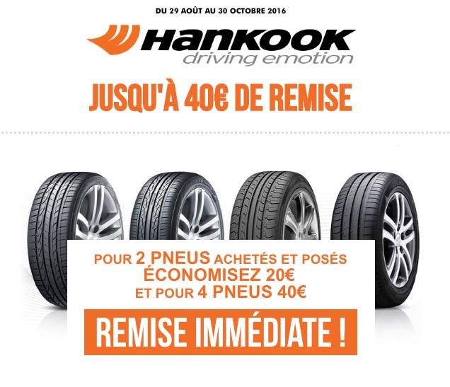 Code promo Speedy : 20€ de réduction pour l'achat et la pose de 2 pneus Hankook (- 40€ pour 4 pneus)