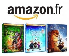 Amazon: Promotion DVD Disney : 3 pour 30€, 5 pour 45€ ou 10 pour 80€