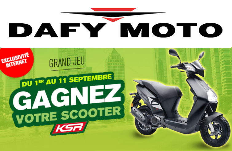 1 scooter ksr gagner par tirage au sort apr s avoir command pour 200 minimum dafy moto. Black Bedroom Furniture Sets. Home Design Ideas