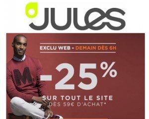 Jules: 25% de réduction sur tout le site dès 59€ d'achat