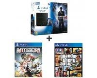 Auchan: Pack console PS4 1 To + 3 jeux : Uncharted 4 + GTA V + Battleborn à 399,99€