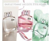 Origines Parfums: 9 parfums Lacoste L.12.12 pour elle à gagner