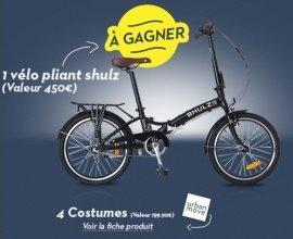 Brice: 1 vélo pliant shulz et 4 costumes à gagner