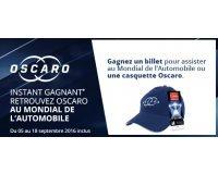 Oscaro: Des places pour le mondial de l'automobile à Paris et des casquettes à gagner