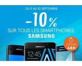 Materiel.net: 10% de réduction immédiate sur tous les smartphone Samsung Galaxy