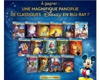 Disney: Collection de 15 bluray de classiques disney à gagner