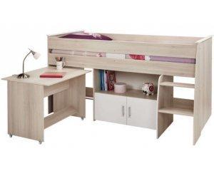lit combin bureau 90x190 200 cm mod le jerry 175 60 conforama. Black Bedroom Furniture Sets. Home Design Ideas