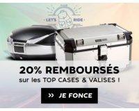 Motoblouz: 20% crédités pour l'achat d'un top case, valise, support ou kit de fixation
