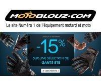 Motoblouz: 15% de réduction immédiate sur une sélection de gants d'été pour l'après-saison