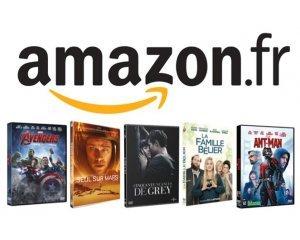 Amazon: 5 DVD pour 30 €  parmi une sélection de plus de 3000 titres