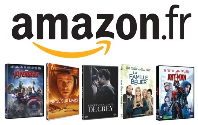 Code promo Amazon : 5 DVD pour 30 €  parmi une sélection de plus de 3000 titres