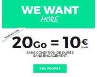 SFR: Forfait mobile tout illimité + 20Go d'Internet 4G à 10€/mois à vie