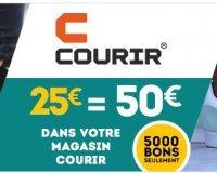 Cdiscount: Payez 25€ le bon d'achat Courir de 50€ (offre limitée à 5000 bons disponibles)