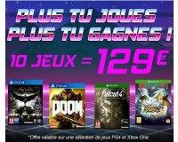 Cdiscount: 3 jeux PS4 ou Xbox One pour 59€, 5 jeux pour 79€ ou 10 jeux pour 129€