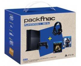 Fnac: Pack  PS4 500Go + Deus Ex + Uncharted 4 + Casque + 30€ offerts à 299,9€