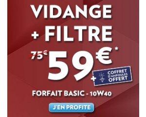 forfait entretien auto vidange filtre 10w40 ampoules offertes pour 59 speedy. Black Bedroom Furniture Sets. Home Design Ideas