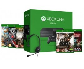 Microsoft: Pack console Xbox One 1 To + 5 jeux à 299€
