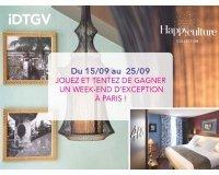 IDTGV: 1 week-end d'exception à Paris pour 2 personnes à gagner