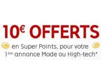 PriceMinister: 10€ offerts en Super Points pour votre 1ère annonce Mode ou High-Tech
