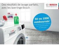Bosch: 50 et 100 € remboursés sur une sélection de lave-linge