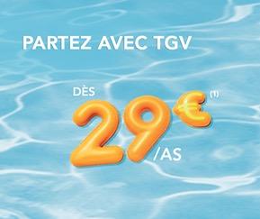 Code promo Voyages SNCF : Promo TGV : partez en France ou en Europe dès 29€