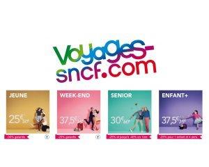 OUI.sncf: - 50% sur toutes les cartes de réduction SNCF