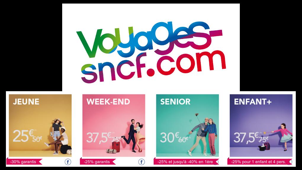 Code promo OUI.sncf : - 50% sur toutes les cartes de réduction SNCF