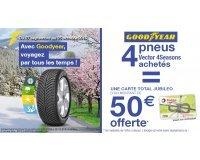 Allopneus: Une carte Total de 50€ offerte pour l'achat de 4 pneus GoodYear Vector 4Seasons