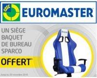 Euromaster: 1 siège baquet de bureau Sparco offert pour l'achat de 4 pneus Michelin