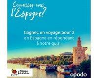 Opodo: 1 week-end en Espagne pour 2 personnes à gagner