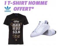 Cdiscount: 1 T-shirt Adidas Homme offert pour l'achat d'une paire de basket