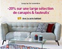 Habitat: [Adhérents] 20% de remise sur une large sélection de canapé et fauteuils