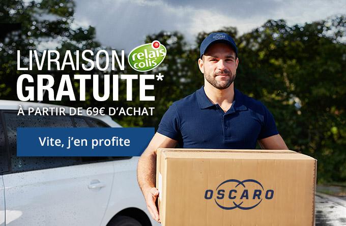 Code promo Oscaro : La livraison offerte en point relais à partir de 39€ d'achat
