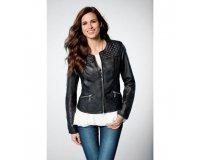 3 Suisses: La veste noire cintrée pour femme immitation cuir à 12,99 € au lieu de 57,99 €