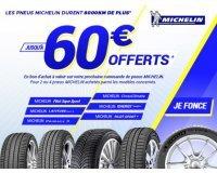 Allopneus: 30€ offerts pour l'achat de 2 pneus & 60€ pour 4 parmi une sélection Michelin