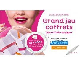 Nocibé: 10 cartes cadeaux de 1 000€ + 10 coffrets institut