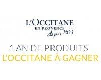 L'Occitane: 1 an de produits L'Occitane à gagner