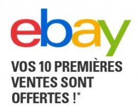 eBay: Offre d'essai gratuite : 10 annonces sans aucun frais